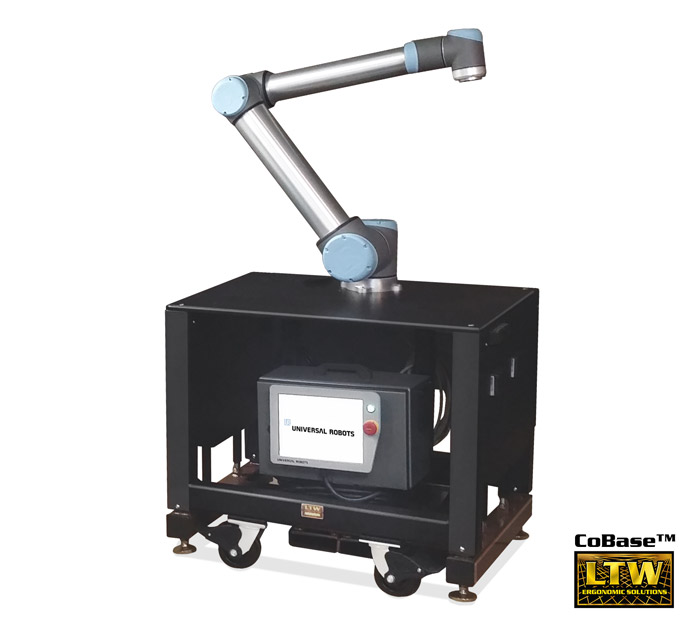 Collaborative Robot Table   Height Adjustable CoBase™ Robotics Table for Universal Robots, FANUC, and more by LTW Ergonomic Solutions