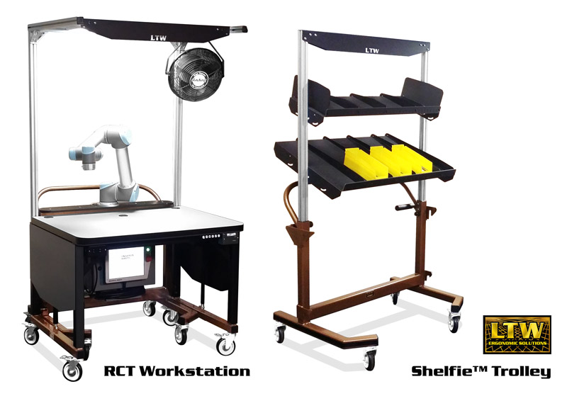 RCT Workstation   Height Adjustable Workstation for Kitting by LTW Ergonomic Solutions
