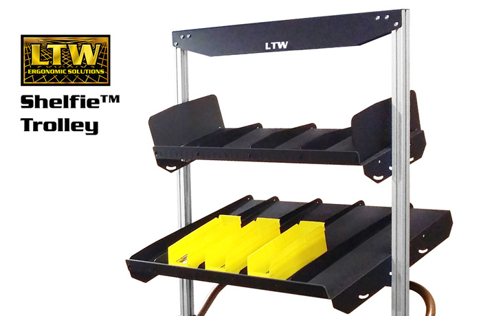 LTW Tilting Shelfie™ for Workstations by LTW Ergonomic Solutions