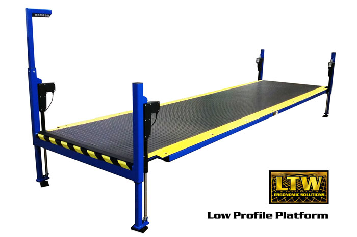 Height Adjustable Operator Platform Lift - Low Profile Platform by LTW Ergonomic Solutions