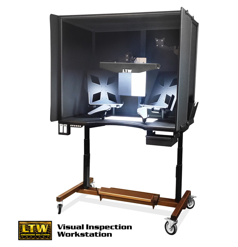 Visual Inspection Workstation - Height Adjustable and Ergonomic - LTW Ergonomic Solutions