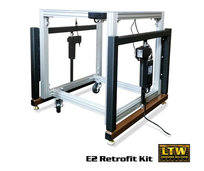 E2 Retrofit Kit - Height Adjustable by LTW Ergonomic Solutions