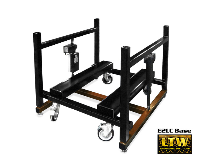 Industrially Height Adjustable E2LC Machine Base by LTW Ergonomic Solutions