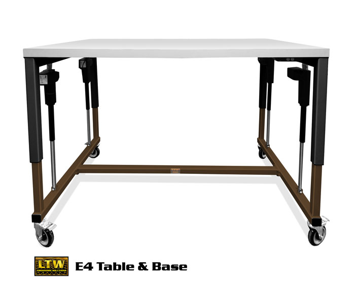 Height Adjustable Industrial E4 Table and Machine Base by LTW Ergonomic Solutions