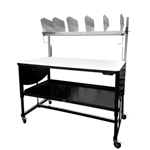 Industrially Height Adjustable Packing and Shipping Workstation by LTW Ergonomic Solutions