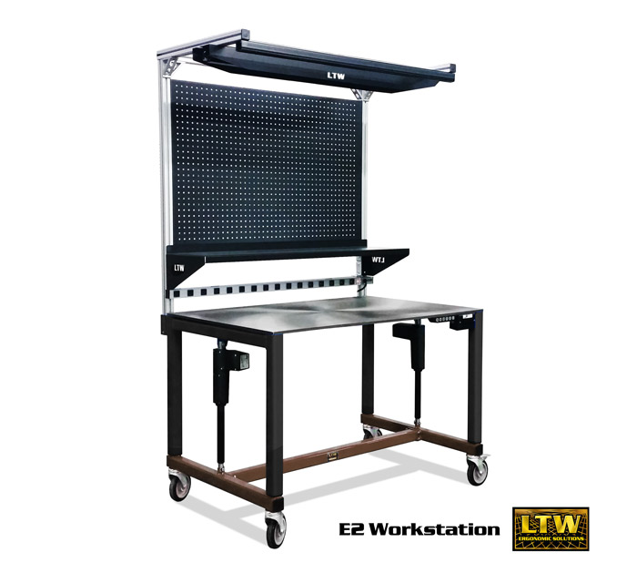 E2 Workstation - Height Adjustable Industrial Workbench and Workstation by LTW Ergonomic Solutions