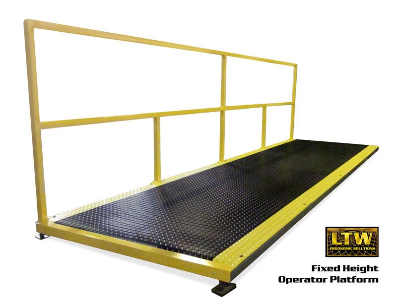 Operator Platform by LTW Ergonomic Solutions - No Adjustability Platform