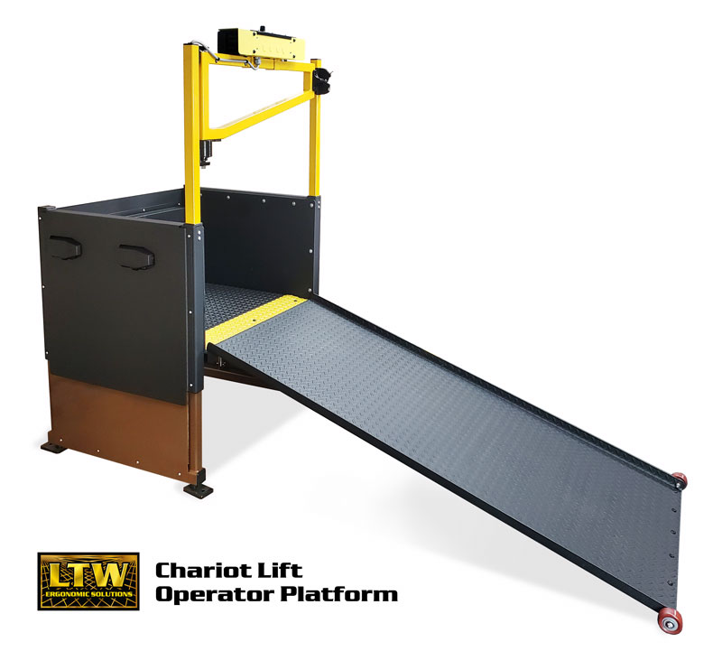 Chariot Lift Personal Adjustable Height Operator Platform by LTW Ergonomic Solutions