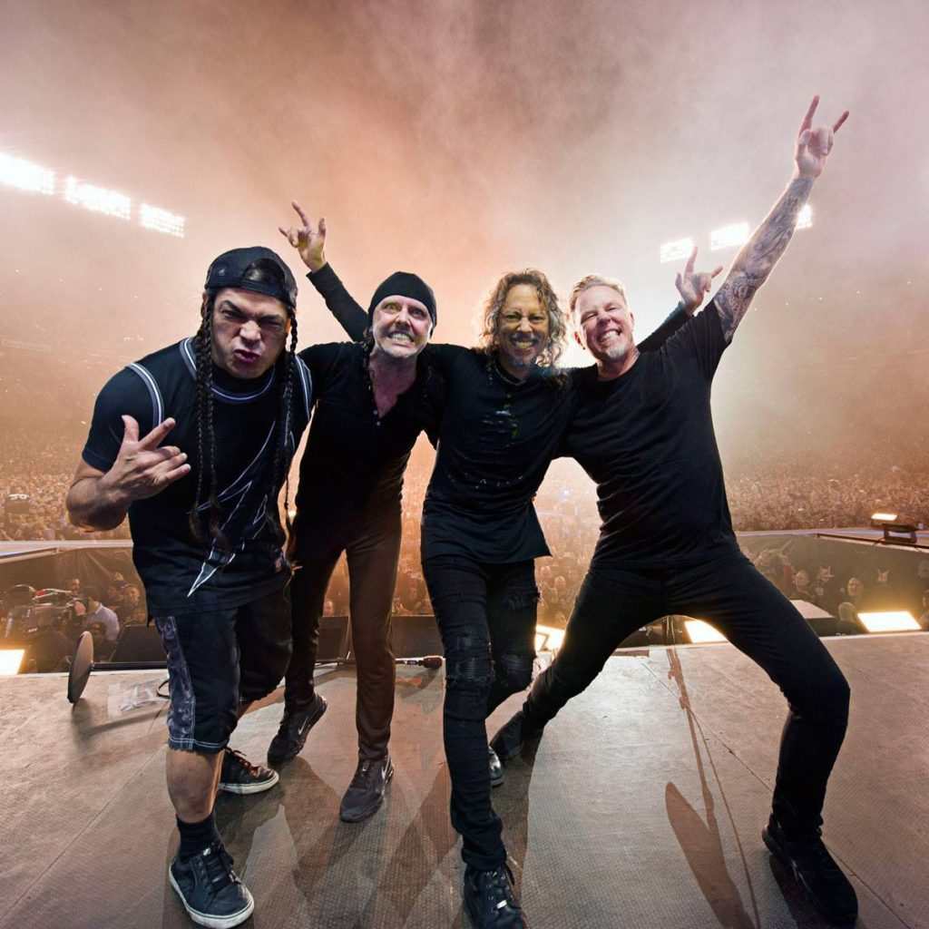 Metallica live on stage