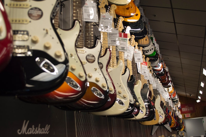 Line of Fender Guitars -  Photo by Stephen Niemeier from Pexels