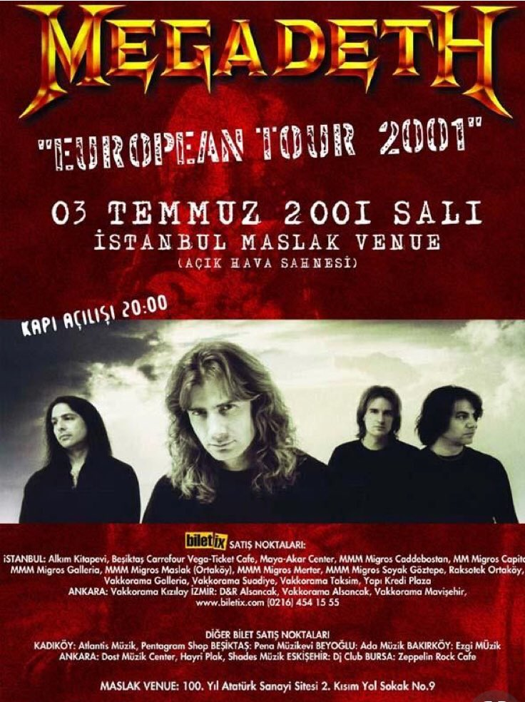 Flyer promoting 2001 Istanbul Concert