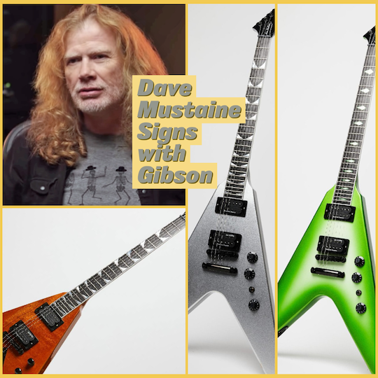 Gibson Announces Signature Dave Mustaine Line