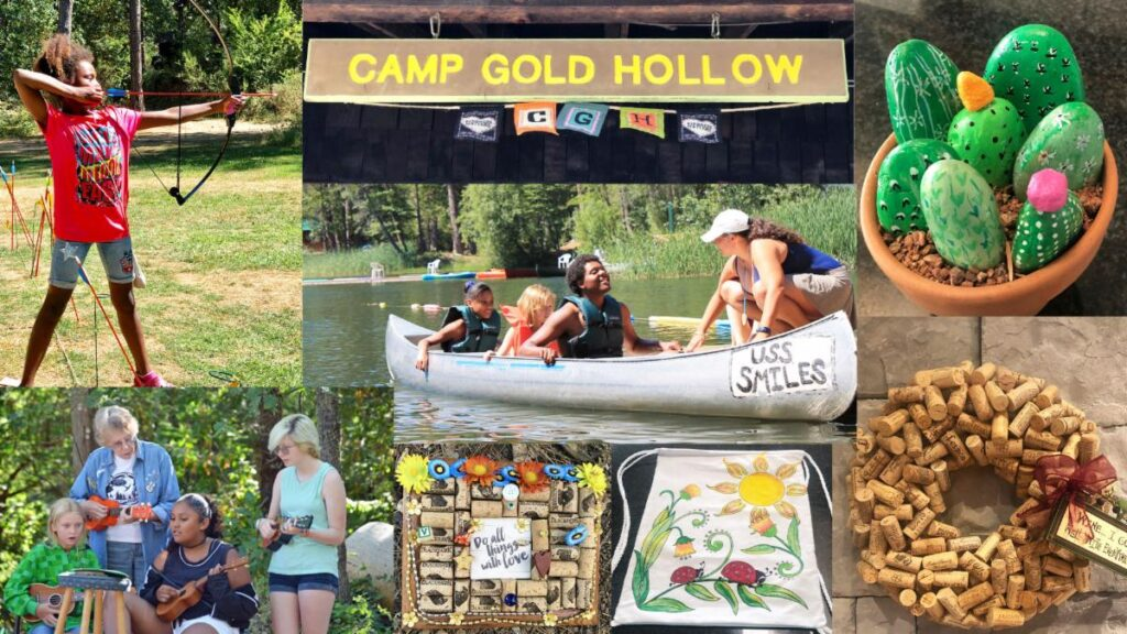 collage of camp photos