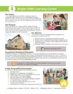 Madison Montessori Preschool Overview