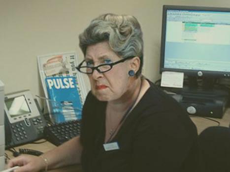 Grumpy secretary