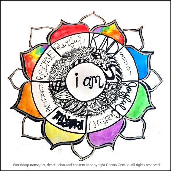 """I AM"" Mandala for Self-Care & Empowerment"