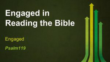 Engaged in Reading the Bible