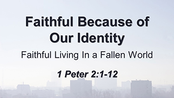 Faithful Because of Our Identity