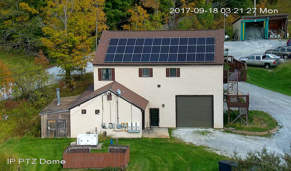 Countryside Alarms rooftop solar array
