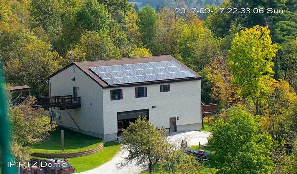 Countryside Alarms rooftop solar array