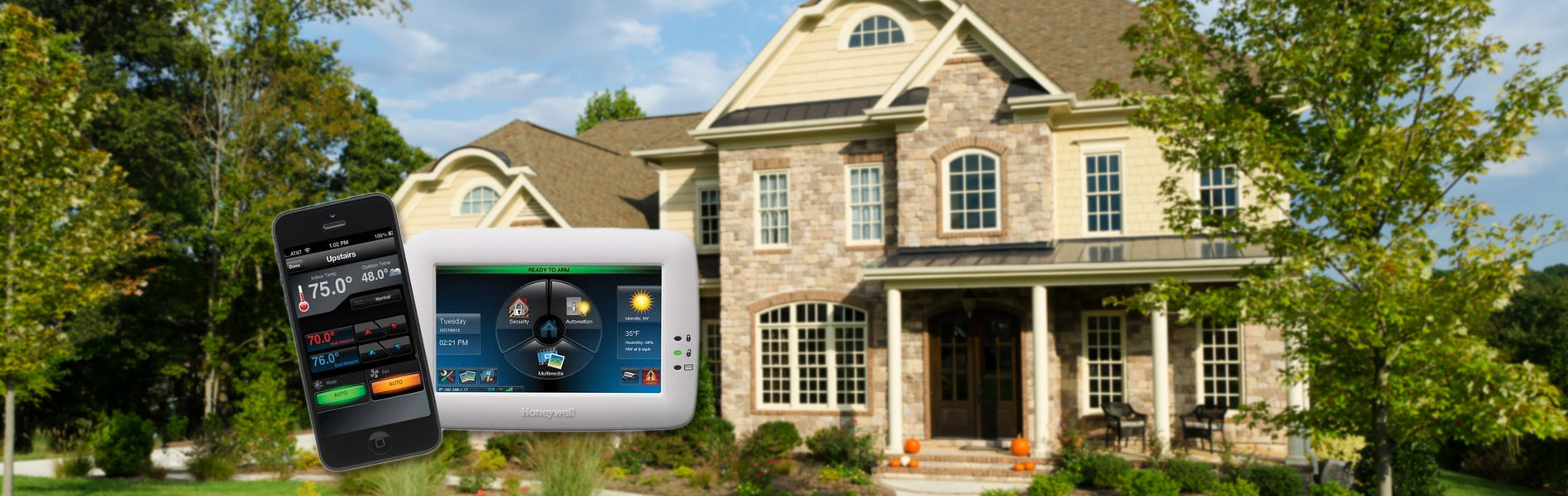 Countryside Alarms sells and installs Tuxedo Touch by Honeywell - security system ready to arm