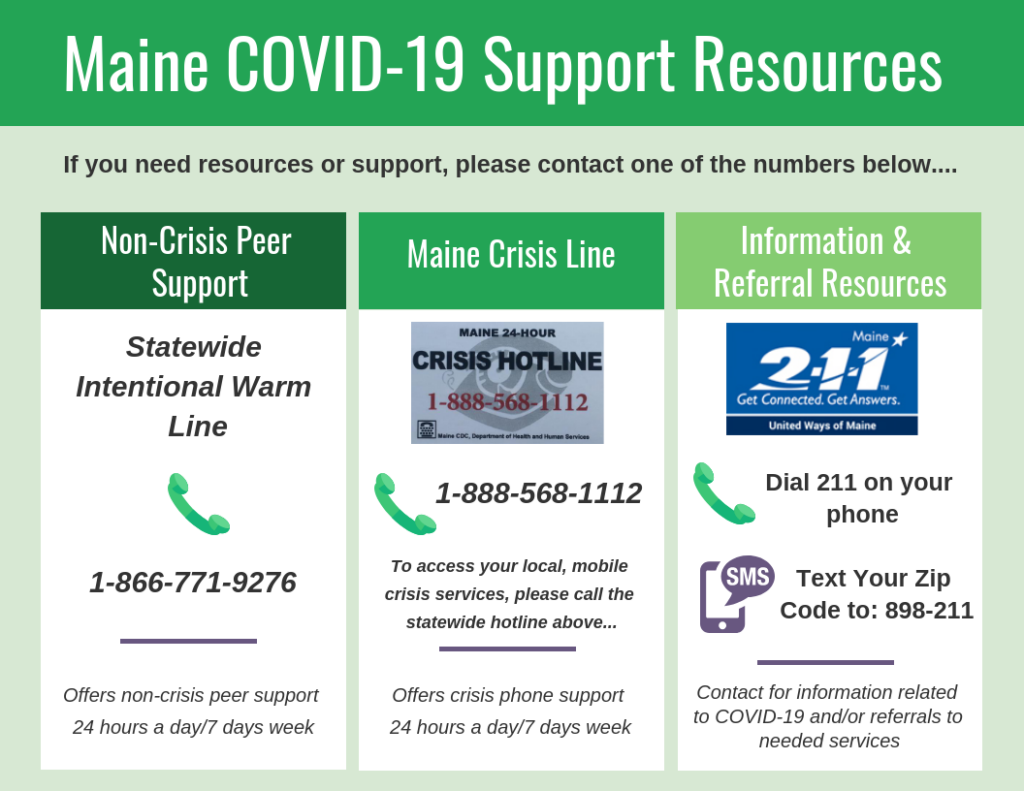 Maine COVID-19 Support Resources.