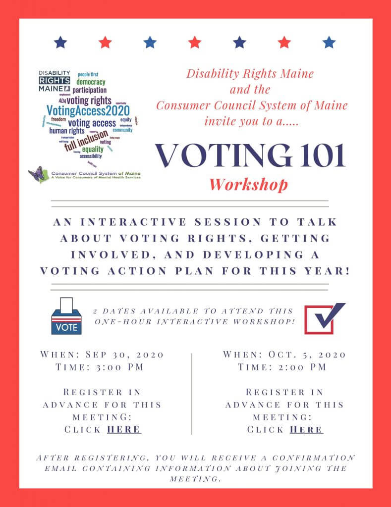 Voting 101 Workshop.