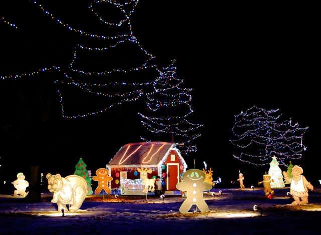 COL gingerbread village lighted display (photo by Ryan Clausen)