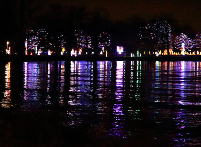 COL lighted display lake reflections (photo by Ryan Clausen)