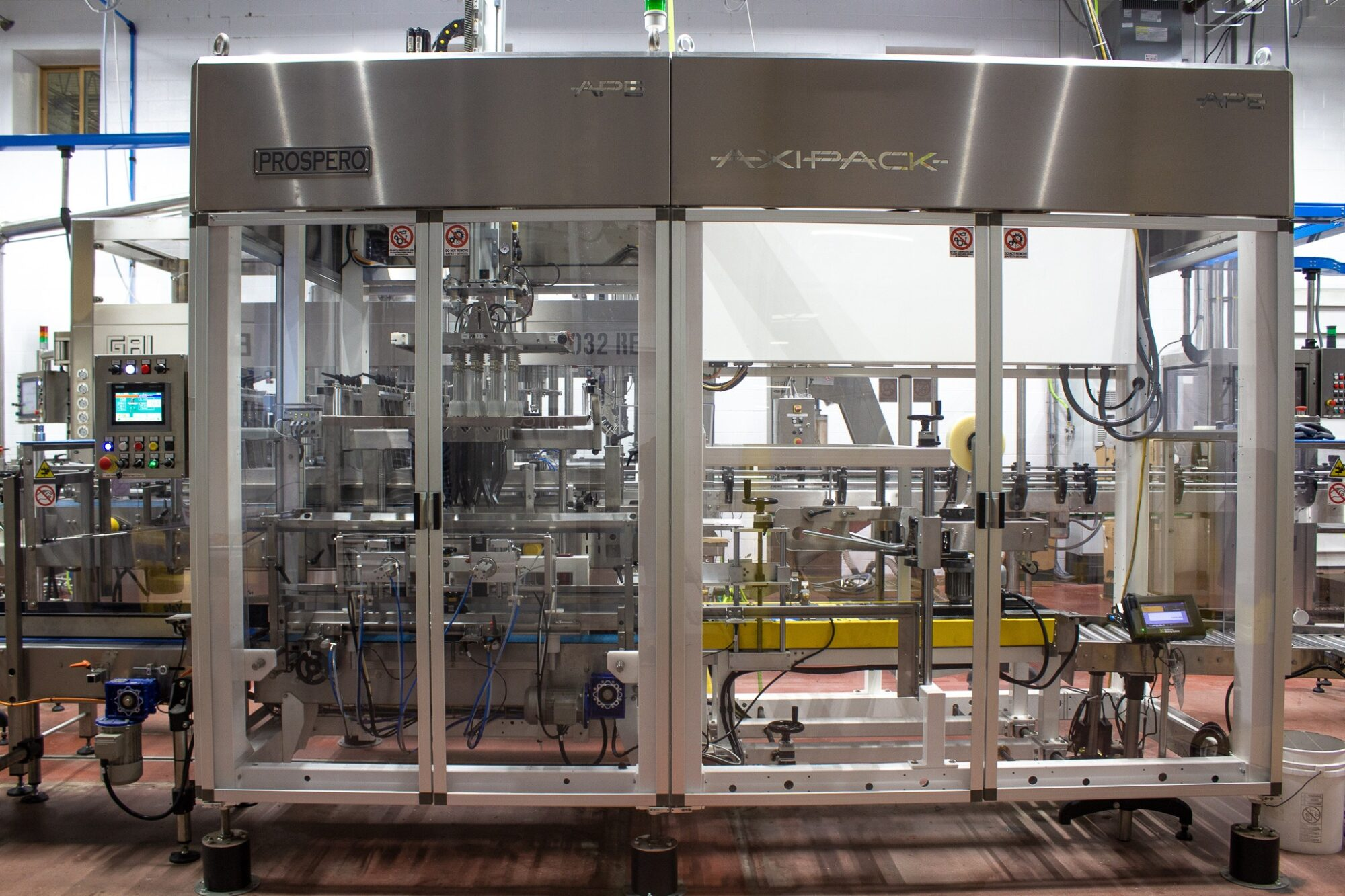 Production Line with bottling dispenser