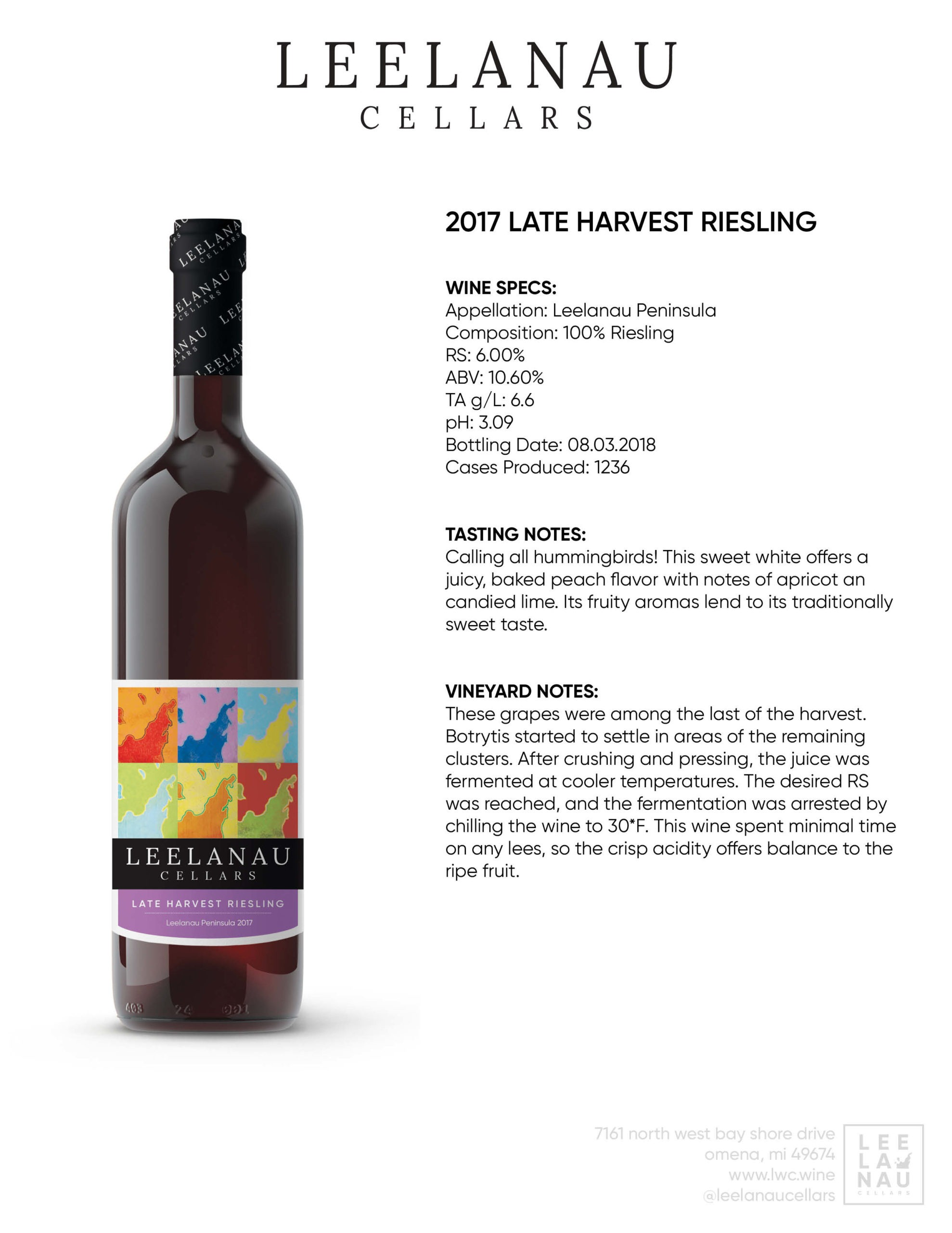 late harvest riesling specs