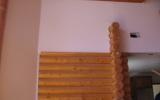 Before Interior Log Siding