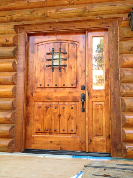 log-home-front-door