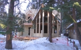 Log homes allow you to showcase your home with beautiful cathedral windows and log prows.