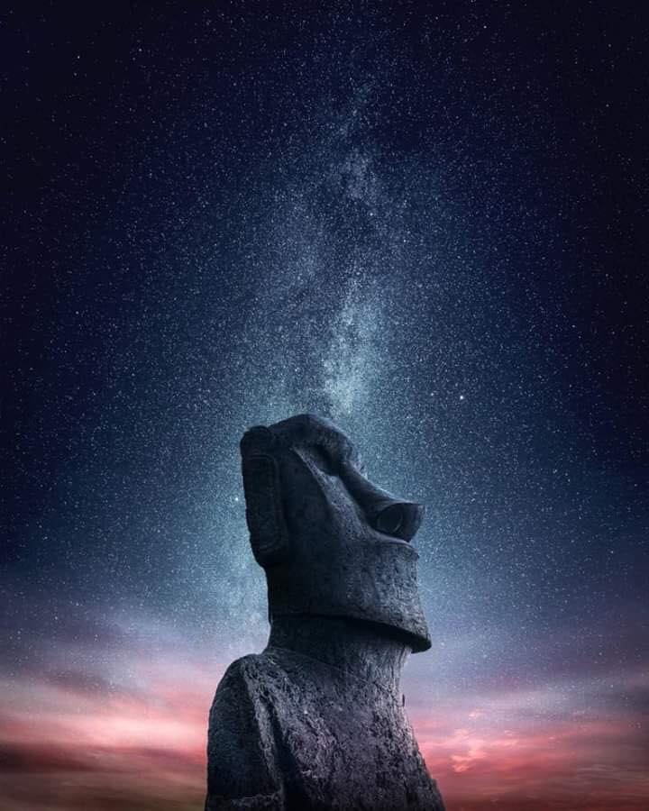Easter Island Stone Heads or Moai