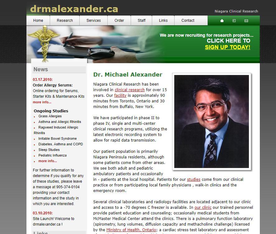 Dr. Alexander Allergy Consultation