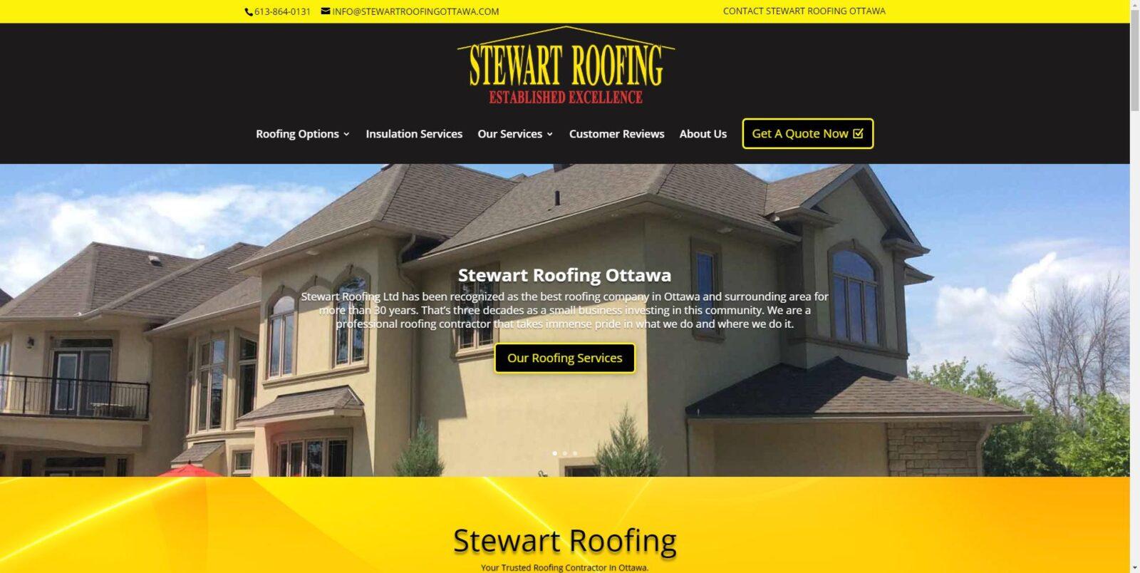 Stewart Roofing Ottawa