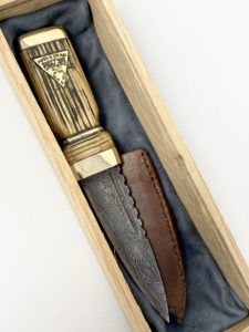 New Jersey State Police Pipe Band 10-years-service sgian dubh