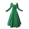 Fleur De Lis Medieval Gown Green