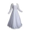 Fleur De Lis Medieval Gown White