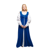 Ren Peasant Dress Blue