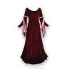 Ren Velvet Gown Burgundy Rose