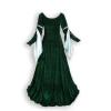 Ren Velvet Gown Green SIlver