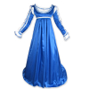 Satin Ren Dress Blue White