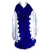 Scalloped Dress Blue/White