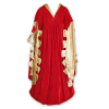 Scalloped Dress Red/Gold