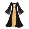 Tudor Velvet Gown Black Gold