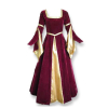 Renaissance MD Gown Burgundy/Gold