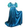 Regency Satin Ball Gown Blue Green