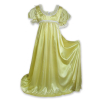 Regency Satin Ball Gown Light Yellow